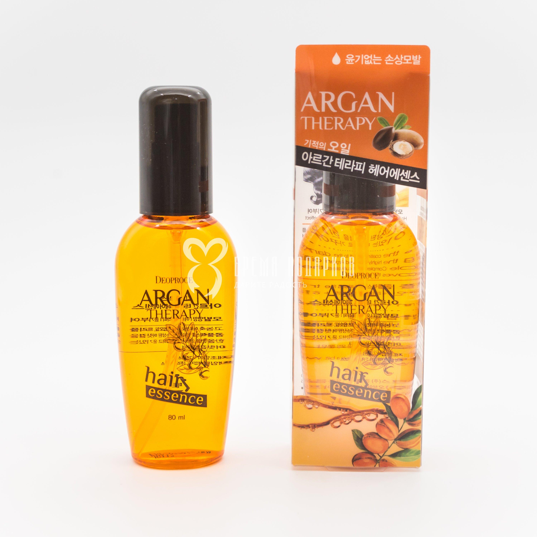 Эссенция для волос с аргановым маслом для всех типов волос DEOPROCE ARGAN THERAPY HAIR ESSENCE 80ml фото