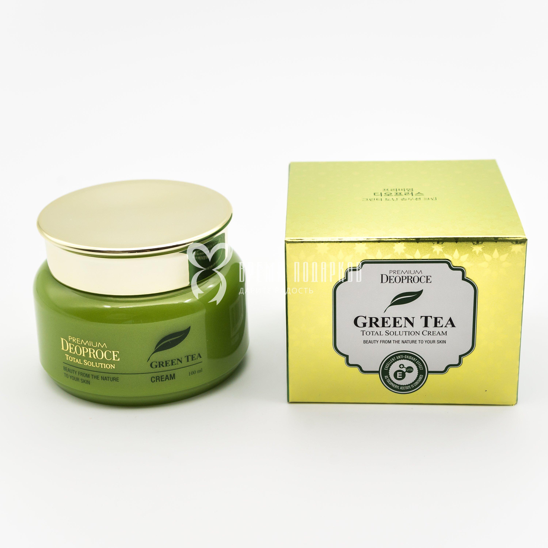 Крем с экстрактом зеленого чая PREMIUM DEOPROCE GREEN TEA TOTAL SOLUTION CREAM 100ml фото