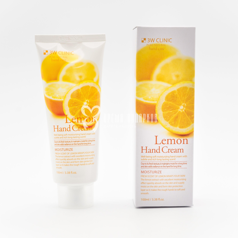 Крем для рук Лимон 3W CLINIC LEMON HAND CREAM 100ml фото