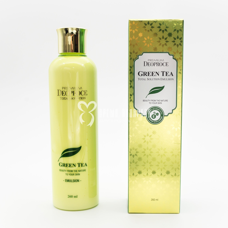 Эмульсия увлажняющая с экстрактом зеленого чая PREMIUM DEOPROCE GREEN TEA TOTAL SOLUTION EMULSION 150ml фото
