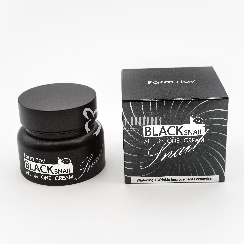 Крем премиум-класса с экстрактом черной улитки FARMSTAY BLACK SNAIL ALL-IN-ONE CREAM 100ml