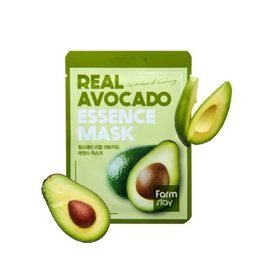 Тканевая маска для лица с экстрактом авокадо REAL AVOCADO ESSENCE MASK 23мл Картинка №21