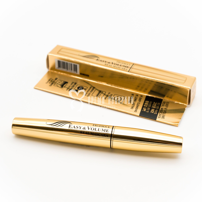 Купить со скидкой Тушь для ресниц объемная DEOPROCE EASY & VOLUME REAL MASCARA 8 ml