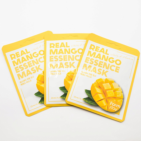 Тканевая маска для лица корейская с экстрактом манго REAL MANGO ESSENCE MASK 23мл Картинка №20