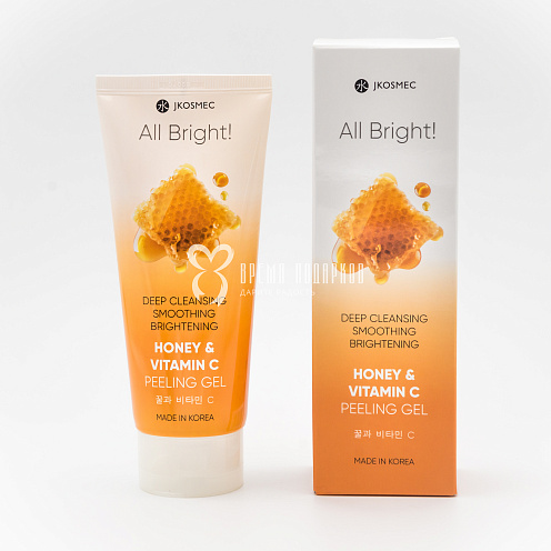 Пилинг гель Мед и витамин С ALL BRIGHT HONEY&VITAMIN C PEELING GEL 180мл Картинка №20