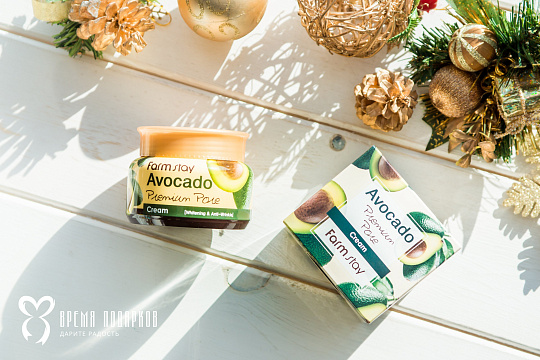 Лифтинг крем с экстрактом авокадо FARMSTAY AVOCADO PREMIUM PORE CREAM 100ml Картинка №22