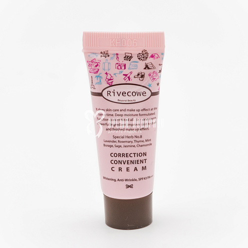 Тональный мини СС-крем Rivecowe Beyond Beauty Correction Convenient Cream SPF43 PA+++ 17 ml Картинка №20