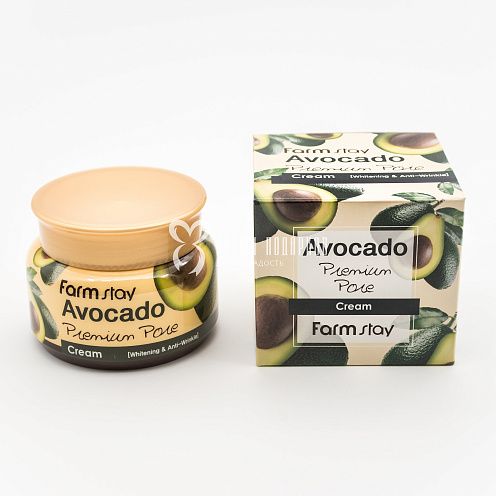 Лифтинг крем с экстрактом авокадо FARMSTAY AVOCADO PREMIUM PORE CREAM 100ml Картинка №20